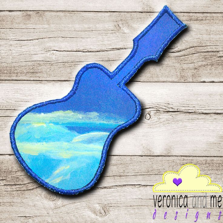 Are you looking for something to embroider for the guitar lover in your life?  Or just looking for some clip art shapes to add to other designs?  This rocking guitar design is what you are looking for!