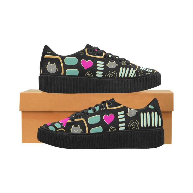 Love Cats Pisces Fabric Women Shoes (Model 1306)