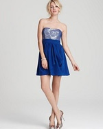 Blue and Silver Sequin Dress from New GirlMinis Dresses, Homecoming Dresses, Strapless Dresses, Girls Generation, Aqua Sequins, Dresses Online, Saia Mini-Sequins, New Girls, Sequins Strapless