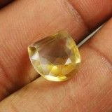 5.Cts 100% AAA + Natural Yellow Citrine Untreated Stone Fancy Brazil Gemstone