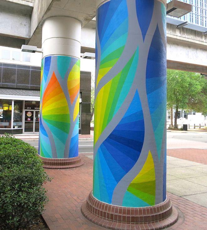 Cecilia Lueza - A TIMELESS JOURNEY, DIA Urban Arts Project, Phase I, Jacksonville FL April 2017
