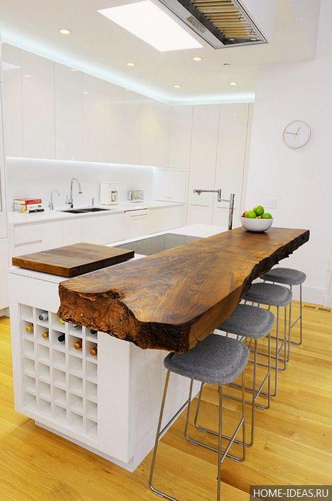 Кухня с барной стойкой — 75 фото красивых барных стоек