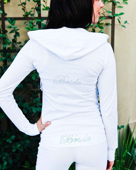 Bride Hoodie. Bride Jacket. Zip Up Hoodie. Bridesmaid, Maid of Honor, Brides Entourage. Bridal Party Hoodie.