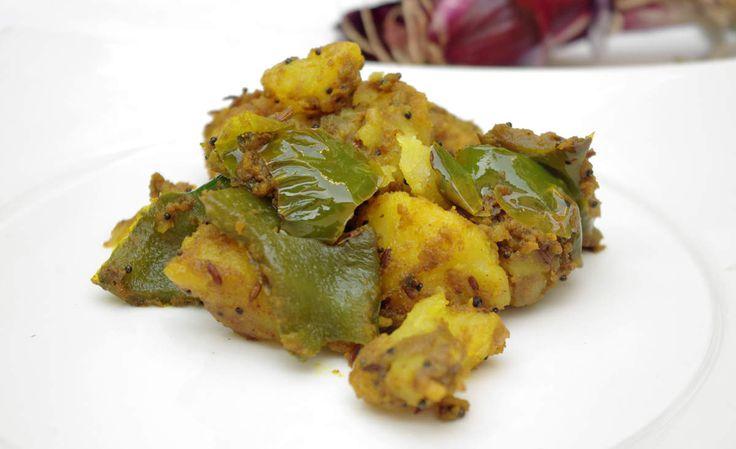 Recette indienne Aloo Shimla mirch en vidéo Bonjour et bienvenue dans mon blog cuisine , aujourd'hui nous allons préparer Aloo shimla mirch . Dans cette recette nous allons combiner pommes de terre et poivrons . Pour faire cette recette indienne, il faut...
