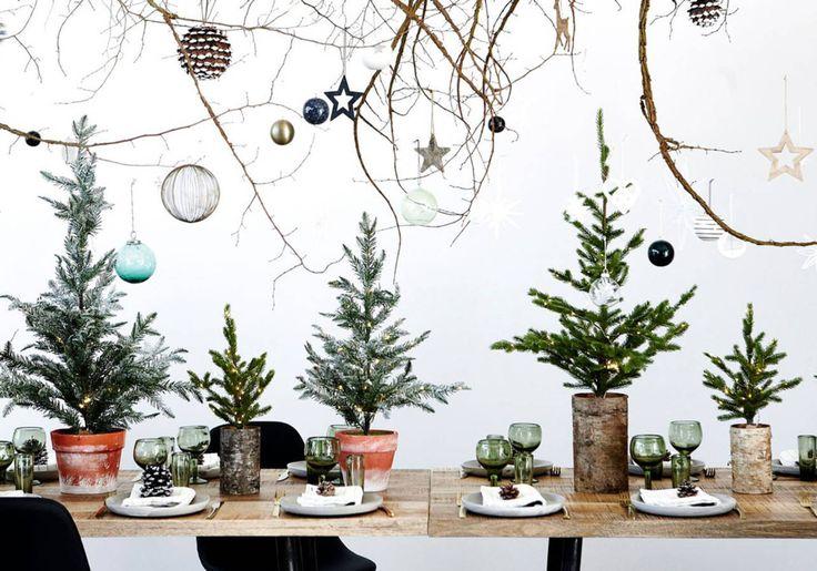 Une décoration de table de Noël toute en relief