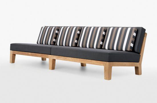 Banyan armless sofa