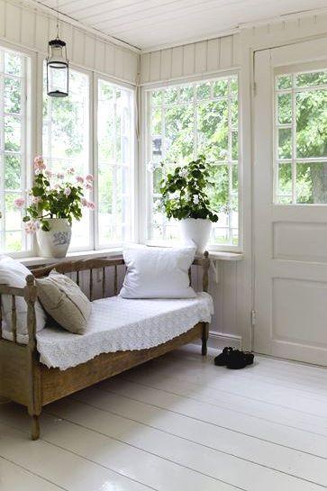 Love the painted wood floors
