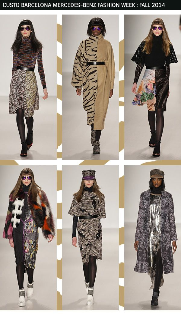 Custo Barcelona's collection made us fantasise about donning chic fur coats and animal-prints this autumn!