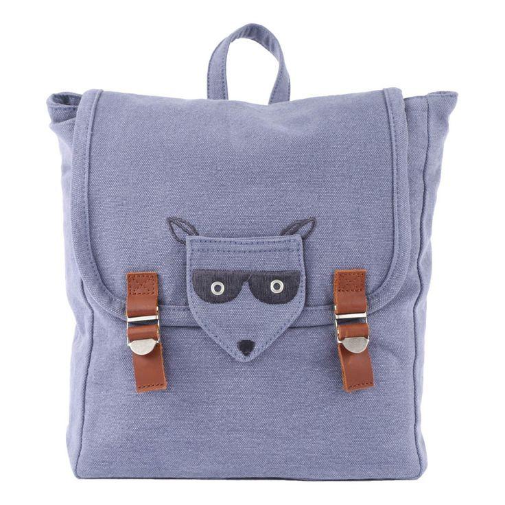 Masked Fox Backpack Blue Emile et Ida Fashion Teen , Children