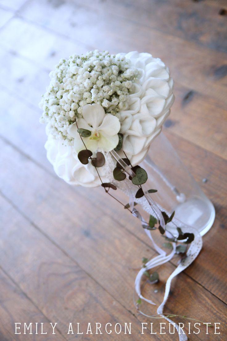 Bouquet romantique gypsophile www.emily-alarcon-fleuriste.com