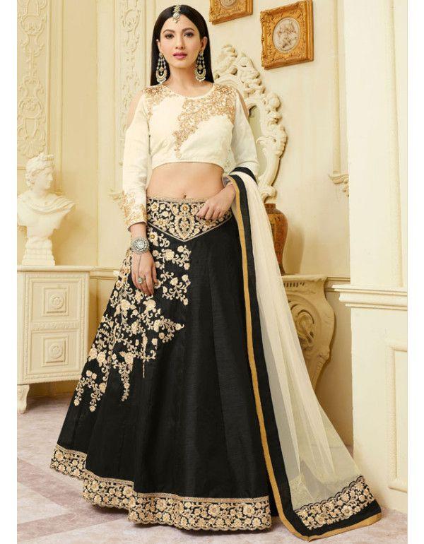3c85571db7 Gauhar Khan Black Lehenga Choli in 2019 | Lehenga Choli | Party wear ...