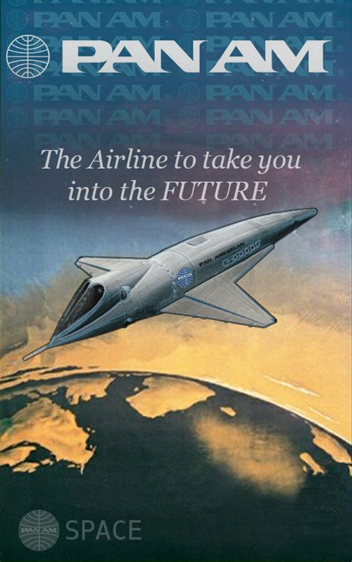 Pan Am the airline of the future. The National AeroSpace Plane was never built and Pan Am went defunct.