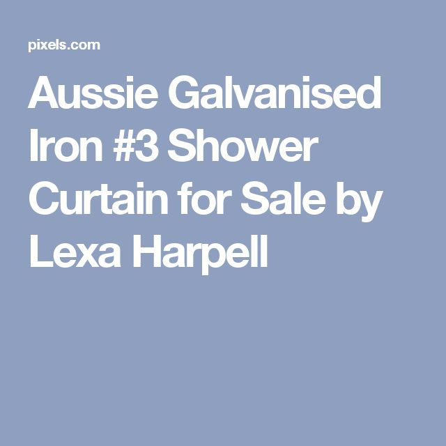 Aussie Galvanised Iron #3 Shower Curtain for Sale by Lexa Harpell