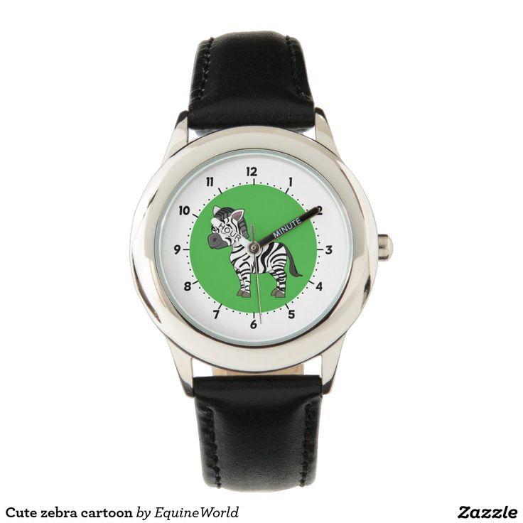 Cute zebra cartoon watches