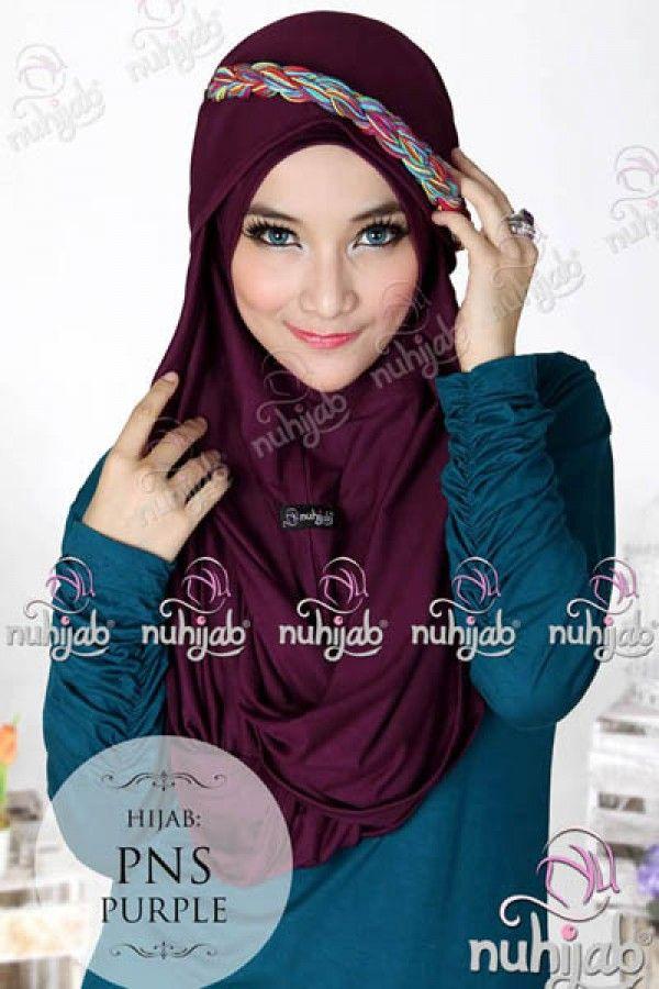 Nuhijab Pns - Purple Rp. 95.000 Bahan: High Quality Spandex Rayon Variasi : PNS adalah Plain Shawl berbentuk necklace / kalung sangat simple dan praktis buat mom n sist yang tidak suka ribet Order sms/wa 082328384495