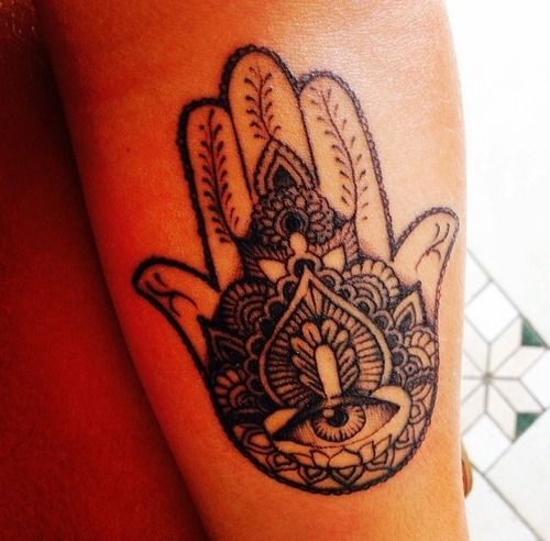 Hamsa Tattoo... Not planning on another tattoo but may draw this and frame. I like the design