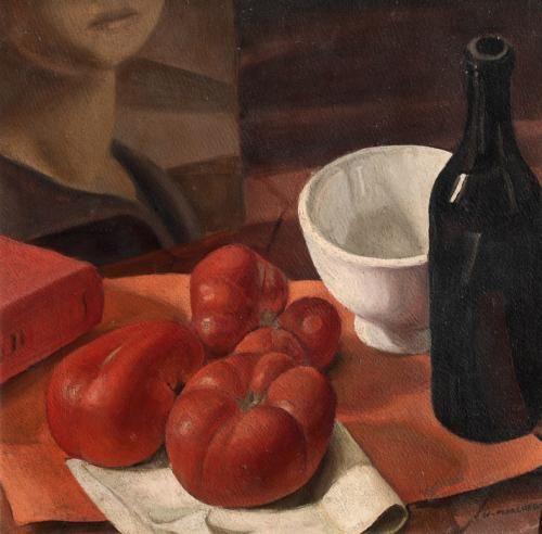 Nella Marchesini Natura morta con pomodori 1925 г.