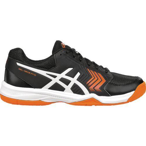 Asics® Men's GEL-Dedicate® 5 Tennis Shoes (Black/White/Shocking Orange, Size 10) - Men's Tennis Shoes at Academy Sports