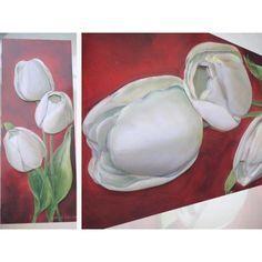 Tableau 3D : tulipe blanches Découvrez étape par étape comment réaliser un tableau en 3D. Vous aurez pour cela besoin de 5 images identiques que vous superposerez avec des carrés de mousse 3D ou de la colle silicone.