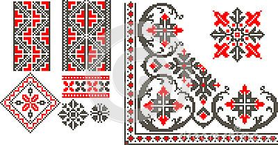 Romanian traditional patterns by Alex Ciopata, via Dreamstime
