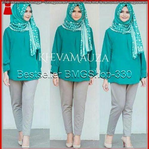 BMGSHOP 2016126bhs setelan blouse keva green murah Sharing