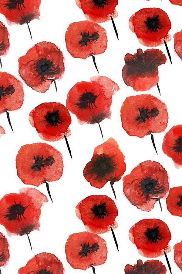 Poppy Wallpaper Home Interior Best 25 Red And Black Wallpaper Ideas On Pinterest  Red Bedroom .