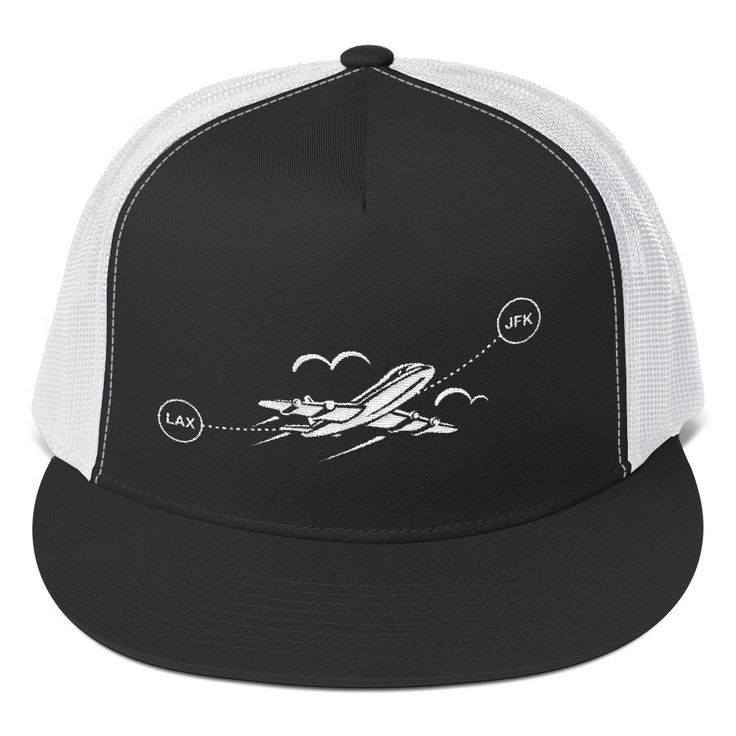 Retro LAX JFK Flight Hat-Trucker Cap