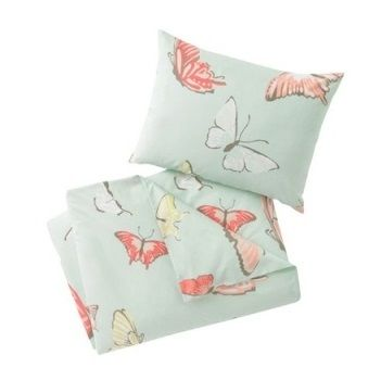 Dwell Studios Butterfly Robin's Egg Quilt Set $190.00  #sweetcreations #baby #toddlers #kids #bedding