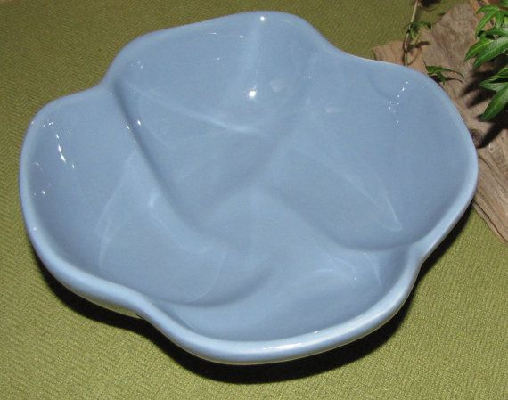 Haeger Blue Bowl Robin Egg's blue Art pottery by LazyYVintage