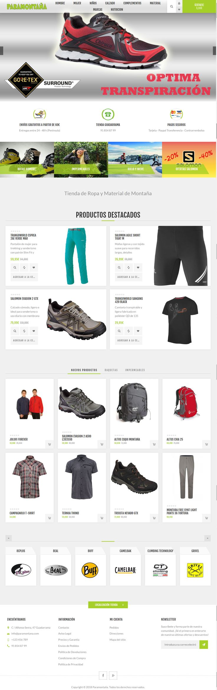 Shopping, Responsive theme