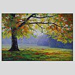 Pintada a mano Paisajes AbstractosModern / Estilo europeo Un Panel Lienzos Pintura al óleo pintada a colgar For Decoración hogareña 2016 - $44.99