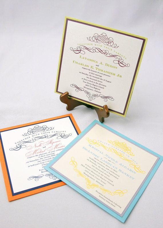 I like invites like this: simple and classic