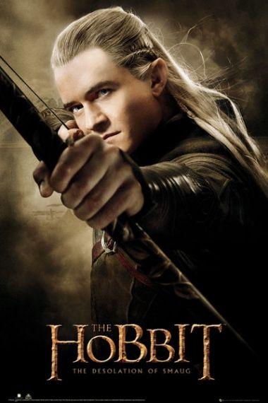 The Hobbit Pustkowie Smauga Legolas - plakat