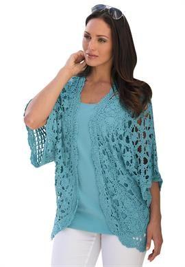 Plus Size Crochet Cardigan image