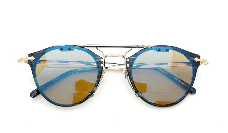 OLIVER PEOPLES OP-505 DNM BDY/GM | clip-on mirror-sunglass by PonMegane