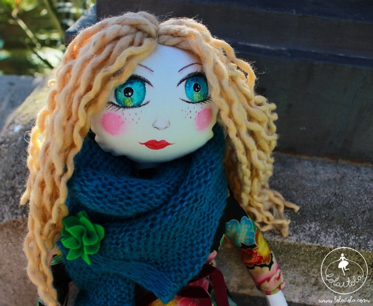 Handmade cloth doll Anastazja