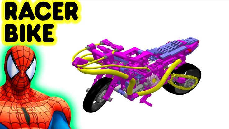 Toy Lego Racer Bike With Spiderman Superhero Motorcycle Video For Kids And Children #toys #LegoRacerBike