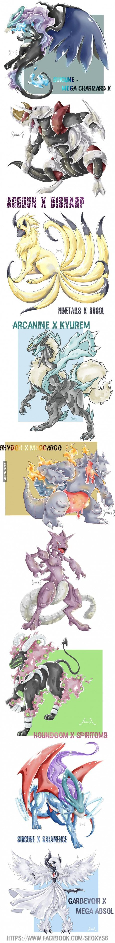 I draw Pokemon Fusions. Thought you might like them!<<<<Amazing!