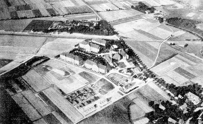 Wyszperaliśmy właśnie dla Was zdjęcie z 1910 r. Zobaczcie, jak wtedy prezentował się Kampus Pracze na zdjęciu lotniczym.