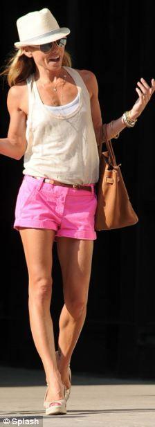 bright pink shorts