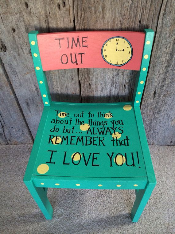Hand Painted Children S Time Out Chair The Painted Trunk