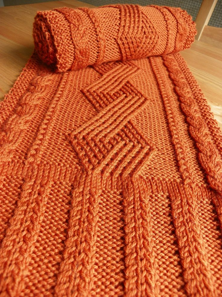 """Pattern to Knit """"Kenworth Mews"""" Cabled Scarf DK weight yarn by suelillycreations on Etsy"""