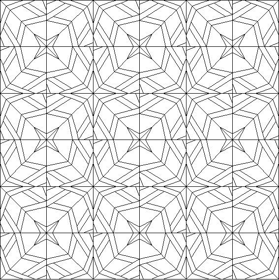 arabesque quilt coloring page - Pattern Coloring Books