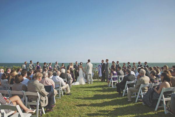 Beach Weddings Cape Cod Weddings. Ocean Front Ceremony.  Pelham House Venue.  Photographer: loveandperry. #ThePerfectPlan