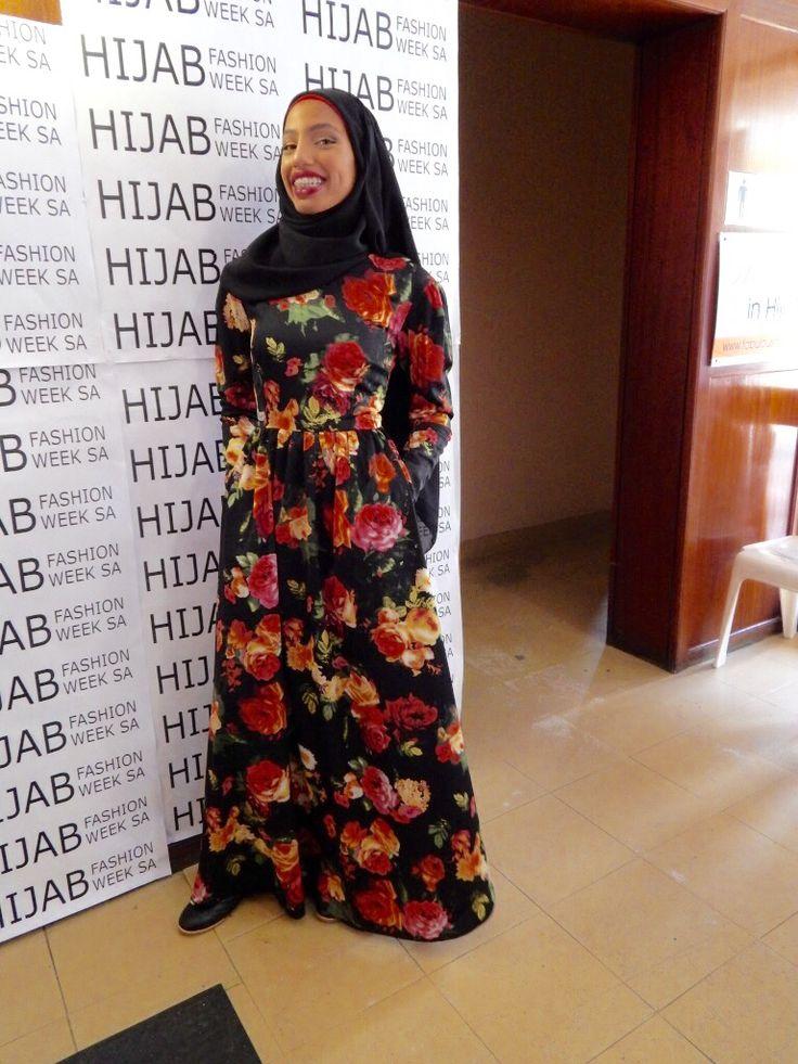 Vintage Floral Dress www.fabulousinhijab.co.za #HFWSA #eid2016