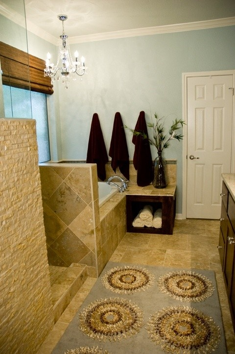 Stone Wall For Shower Wall (outside) Colors Too