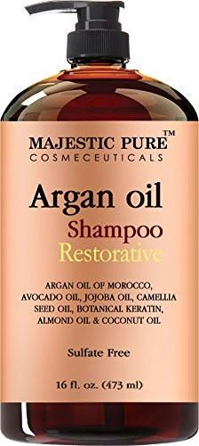 Argan Oil Shampoo from Majestic Pure Offers Vitamin Enriched Gentle Hair Restoration Formula for Daily Use, Sulfate Free, Moroccan Oil & Potent Natural Ingredients, for Men and...