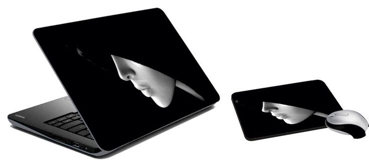 Hooded Homo-Sapien Laptop Skin And Mouse Pad
