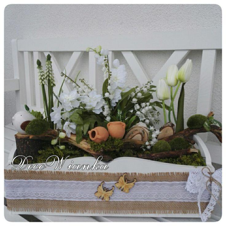 Kompozycja kwiatowa,stroik,ogródek wiosenny,wiosna,garden,flowes,flower,