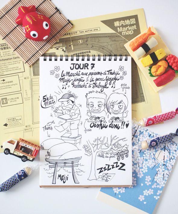 """My Japan Travel Diary """" DAY 7: Tsukiji Market, Meiji & Yoyogi"""" www.tokyobanhbao.com"""